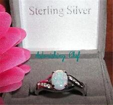 AVON STERLING SILVER CREATED OPAL RING & GIFT BOX SZ 7