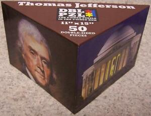 Jigsaw 2 sided Puzzle in the 3 sided box 50 piece Thomas Jefferson NEW