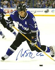 Martin St Louis Hand Signed 8x10 Photo Tampa Bay Lightning NHL Autograph