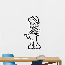 Super Mario Luigi Wall Decal Video Game Vinyl Sticker Playroom Home Decor 273hor
