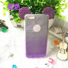 Mickey Gradient Glitter Phone Case For iPhone X SE 4 5 6 7 8 Plus Samsung Huawei