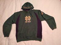 Genuine Stuff Notre Dame Irish Embroidered Patch Hoodie Pullover Sweatshirt XL