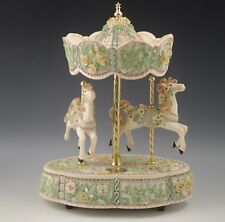 1995 San Francisco Music Box Carousel With 2 Horses Serenity Ellen Kamysz Ltd.Ed