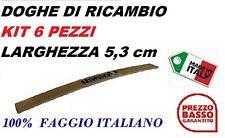 KIT 6 DOGHE DI RICAMBIO PER RETI LETTO IN LEGNO-TUTTE LE MISURE-LARGHEZZA 5.3 cm