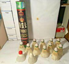 1950/60s Badminton Shuttlecocks w Holder RSL Tourney Altoona PA Wood & Feathers