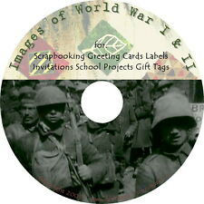 Images of World War One & Two ~ Art & Craft Prints { Clip Art Graphics } on DVD