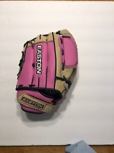 Girls Easton Z-Flex Fast Pitch Ball Glove, pink,Size 12, Throw With Right Hand