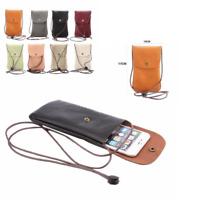 Cell Phone Bag Universal Leather Case Shoulder Pocket Wallet Pouch Neck Strap