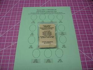 Yaesu FRG-7 - Electrolytic Capacitor rE-Cap Kit - 15 Capacitors - Premium Kit