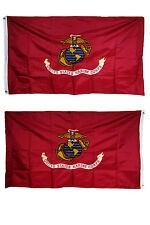 3x5 Embroidered USMC Marines Dark Globe Double Sided Nylon 300D Flag 3'x5'