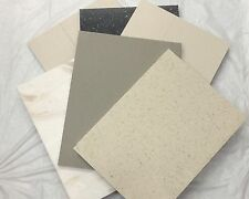 6 Pieces of DuPont Corian- Earth Tones