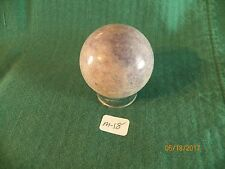 "ONE SODALITE STONE SPHERE 2"" OR 50MM (NEW) W/PEDESTAL-- M-18"