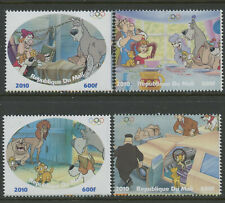 Olliver & Company Disney Dogs mnh set of 4 stamps 2010 Mali