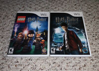LEGO Harry Potter: Years 1-4 & Half Blood Prince Nintendo Wii Lot Bundle