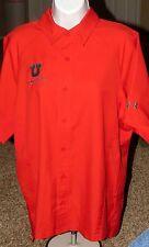 Red Under Armour Heat Gear University Utah Utes Gymnastics Button Front Shirt
