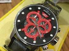 19620 Invicta 48mm Mens S1 Rally Quartz Multifunction Red Dial Nylon Strap Watch