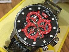 19620 Invicta 48mm Mens S1 Rally Quartz Multifunction Red Dial Nylon Strap Watch
