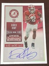 2016 Contenders Bowl Ticket Derrick Henry auto (ball in right arm) #'d 9/99