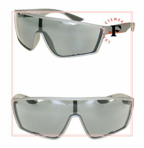 PRADA LINEA ROSSA ACTIVE 09U Gray Silver MIrrored Sport Sunglasses PS09US