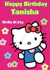Personalised Birthday Card-Hello Kitty-Fille nièce Sœur ami Girl