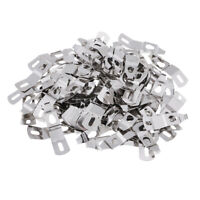 100x Picture Photo Frame Hardware Metal Spring Turn Clip Hangers Silver