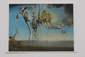 "SALVADOR DALI: ""Die Versuchung des Antonius"" , Kunst-Postkarte / auch mit Rahmen"