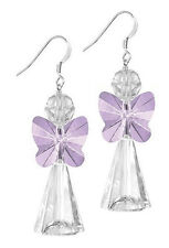 STERLING SILVER 925 & SWAROVSKI CRYSTAL EARRING KIT, VIOLET PURPLE ANGEL
