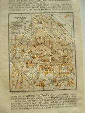 stampa antica MAPPA PIANTA CARTA TOPOGRAFICA CARTOGRAFIA PIEMONTE NOVARA 1911