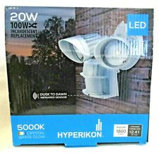 Hyperikon LED Outdoor Security Light Motion Sensor Dusk To Dawn 20W Model 2H-501