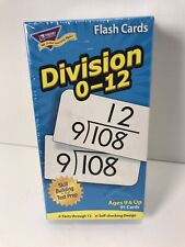 🔥 Trend Division 0-12 Flash Cards Ages 9 & Up Skill Building & Test Prep Math