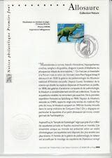 notice philatélique 1er jour  nature  dinosaure  allosaure  2000