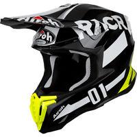 2019 Airoh Twist RACR Black White Gloss Helmet Motocross Enduro M 57-58cm