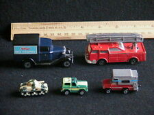 5 RARE TOYS; MATCHBOX-MAJORETTE SONIC FLASHERS-GALOOB MICRO MACHINES