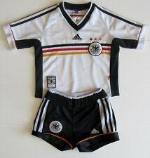 SUPERGOLDIG: DFB DEUTSCHLAND HOME Trikotset mit HOSE!  WM 1998!!! Gr. 128