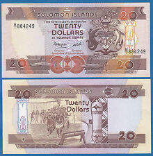 Solomon Islands 20 Dollars P 16 a ND(1986) UNC Low Shipping! Combine FREE! P-16a