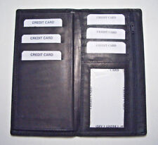 100% Genuine Leather-Checkbook cover with extra divider black (New Design!!!)