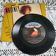 Whitney Houston 45 RPM - Where Do Broken Hearts Go - Arista AS1-9674. 1988