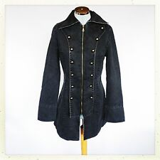 Button Knee Length Casual Military Coats & Jackets for Women