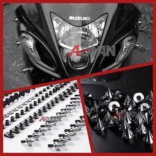 Chrome Spike Full Fairing Bolt Kit Nuts Screws Suzuki GSX-R1300 Hayabusa 99-07
