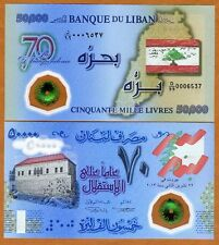 Lebanon, 50000 (50,000) Livres, 2013, P-NEW, Polymer UNC > Replacement