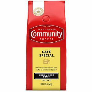 Family Owned Community Coffee Medium Dark Roast Ground Coffee- 12 oz