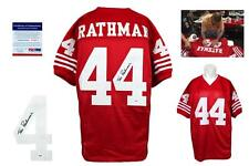 Tom Rathman Autographed SIGNED Custom Jersey - Beckett Authentic w/ Photo - PRO