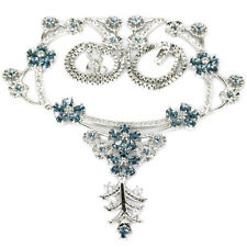 Hi End S/Silver London Blue Topaz Necklace & AAA Cz Ac Weimaraner Rescue charity