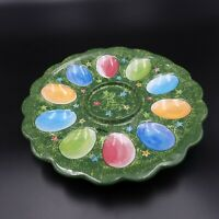 "Deviled Egg / Easter Egg Holder Plate 12 "" Ceramic"