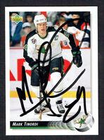 Mark Tinordi #73 signed autograph auto 1992-93 Upper Deck Hockey Card