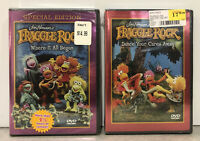 JIM HENSON'S FRAGGLE ROCK Dance Your Cares Away Where It All Began Lot 2 DVDs