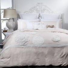 Logan & Mason Platinum Tiffany Blush Large Fabric Flowers Quilt Cover Set King