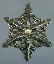 GORHAM Sterling Silver 1983 SNOWFLAKE Christmas Ornament