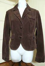 RALPH LAUREN POLO JEANS Women's Corduroy Jacket Blazer Leather Buttons Sz M