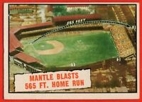1961 Topps #406 Mickey Mantle EX/EX+ World Series New York Yankees HOF FREE SHIP